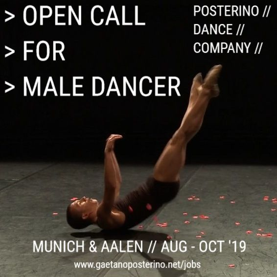 OPEN CALL FOR MALE DANCER